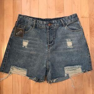 NWT Ripped High Waisted Denim Shorts